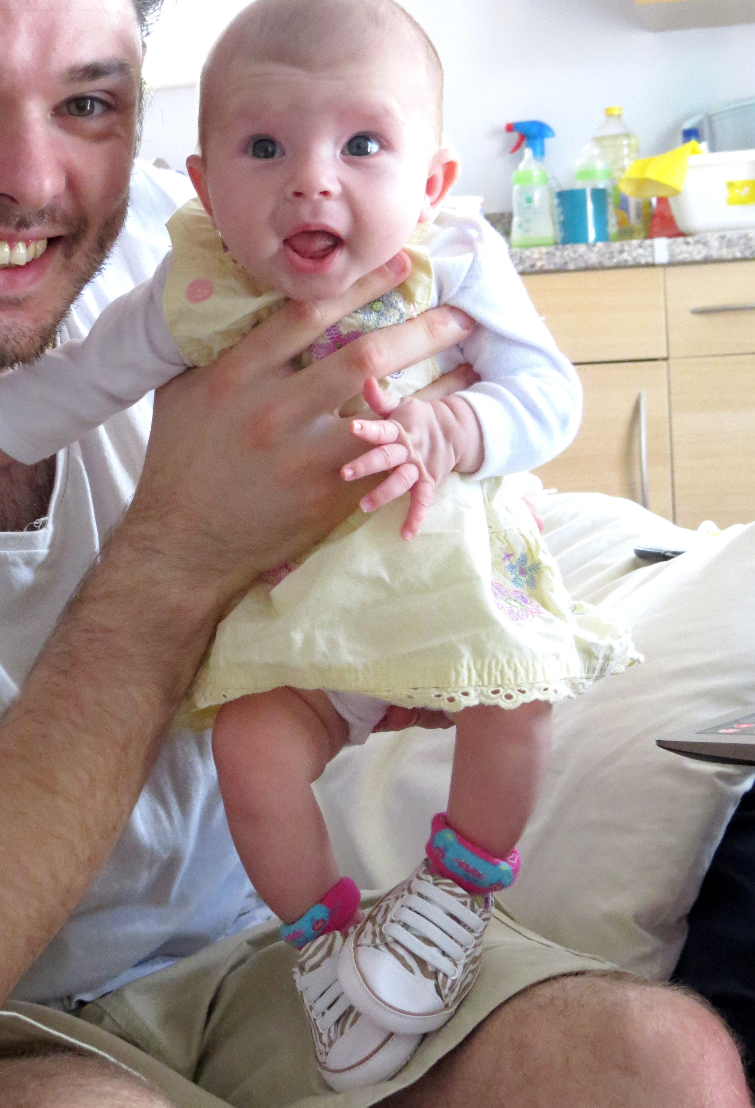 Smiles, shoes and lots of sick: she's 2